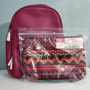 Thirty one Mini Backpack & Zipper pouch